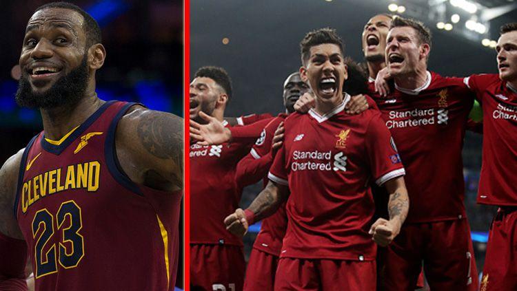 LeBron James dan Liverpool. Copyright: © INDOSPORT
