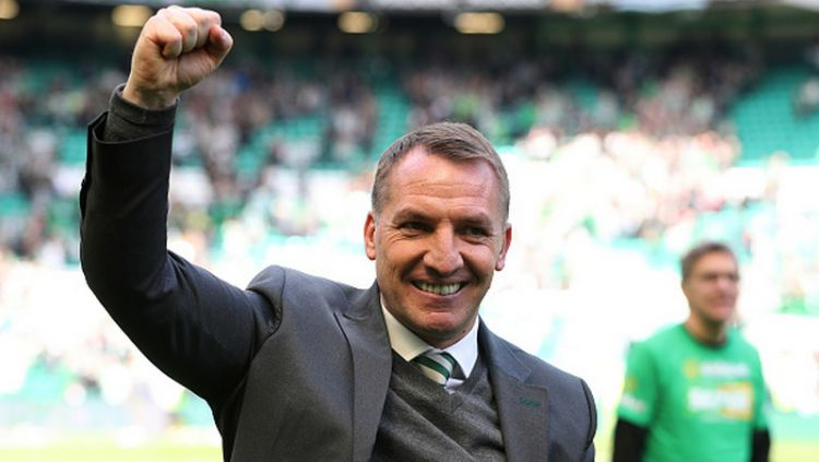 Brendan Rodgers, pelatih Glasgow Celtic. Copyright: © INDOSPORT