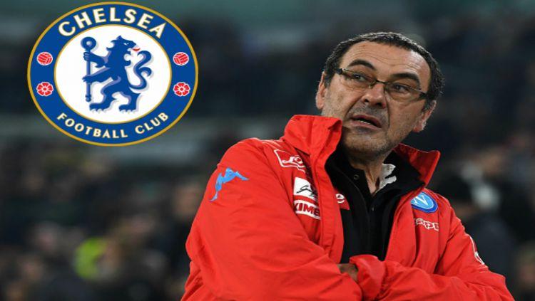 Maurizio Sarri, calon pelatih Chelsea. Copyright: © INDOSPORT