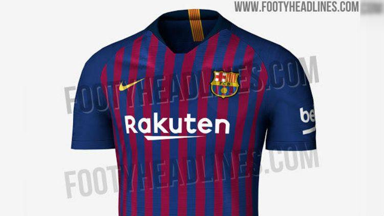 Bocoran Jersey Barcelona musim 2018/19 Copyright: © footyheadlines.com