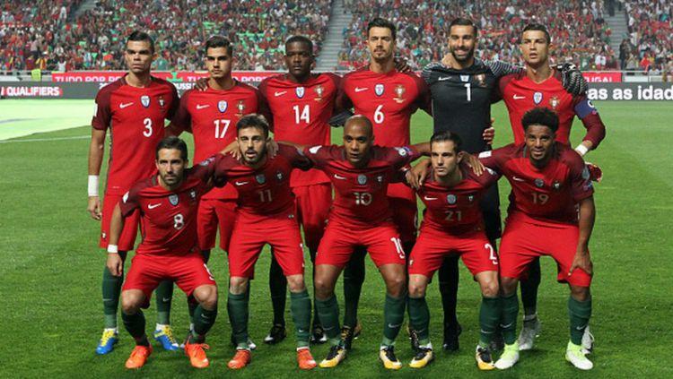 Skuat Timnas Portugal di babak kualifikasi Piala Dunia 2018. Copyright: © INDOSPORT