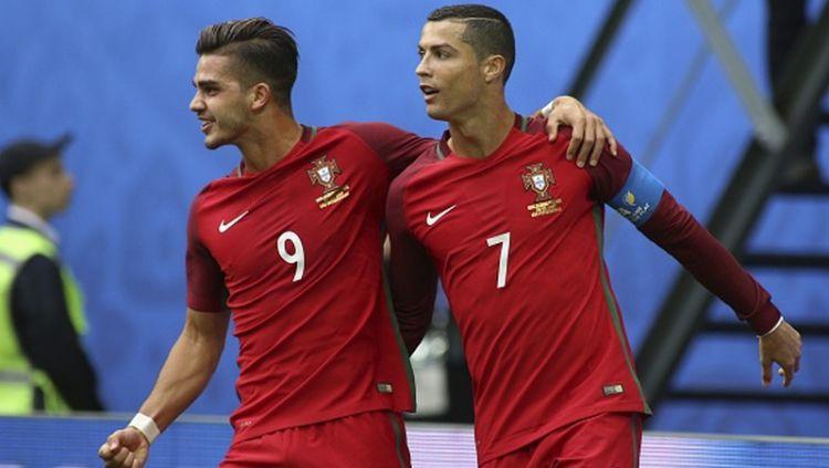 Andre Silva dan Cristiano Ronaldo di Timnas Portugal Copyright: © INDOSPORT