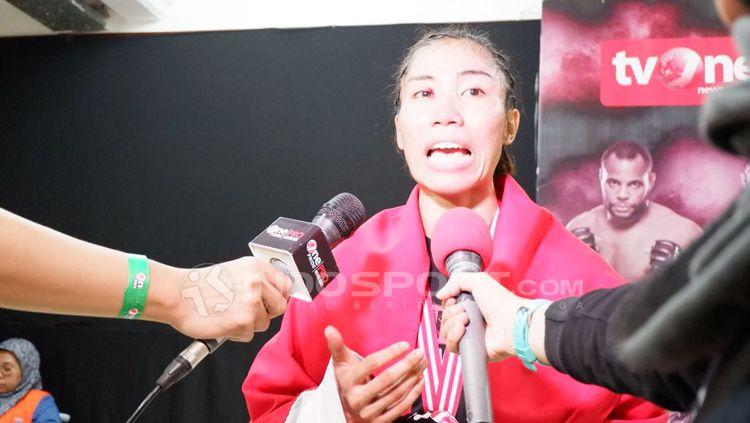Juara Mixed Martial Arts, Linda Darrow. Copyright: © Alfia Nurul Fadilla/INDOSPORT