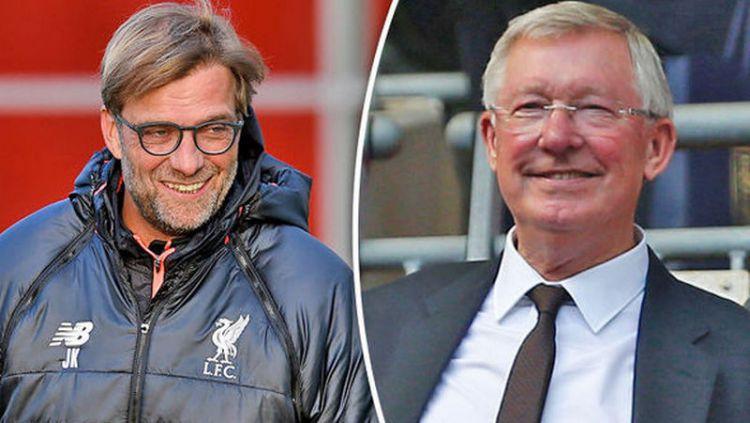 Tak ada di Manchester United, Sir Alex Ferguson kini ada di Liverpool dan Jurgen Klopp punya kualitas yang sama. Copyright: © Express
