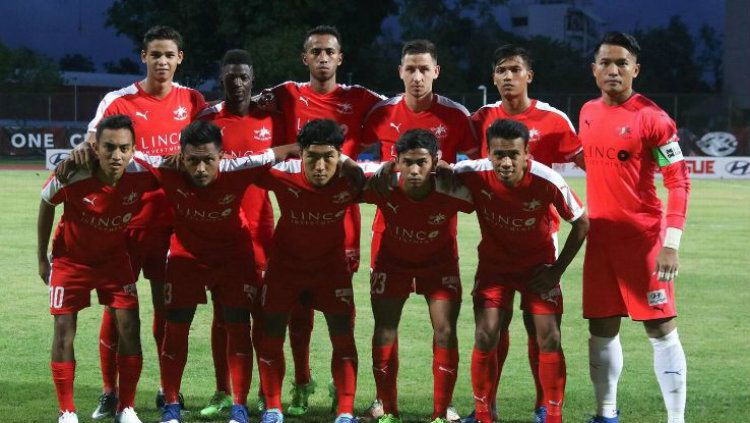 Skuat Home United yang akan menghadapi PSM Makassar di Piala AFC 2019. Copyright: © football-tribe.com