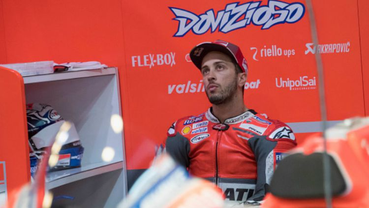 Pembalap Ducati, Andrea Dovizioso akhirnya buka suara terkait nasib masa depan kariernya jika pensiun dari kejuaraan MotoGP. Copyright: © INDOSPORT