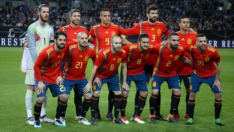 Timnas Spanyol. Copyright: © INDOSPORT