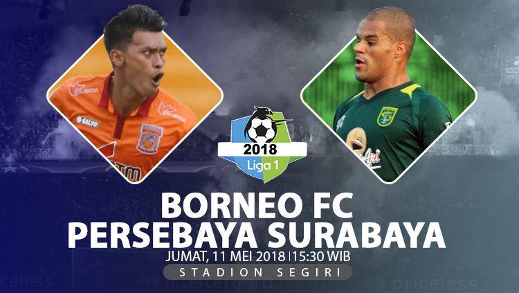 Borneo FC BS Persebaya Surabaya. Copyright: © INDOSPORT