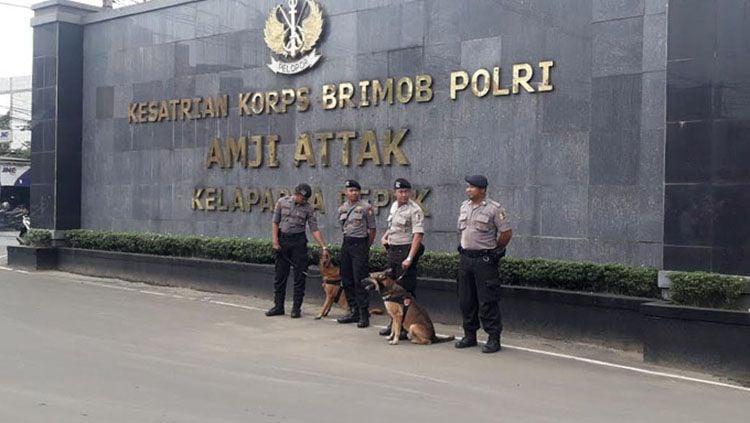 Pengamanan di Mako Brimob, Depok. Copyright: © Okezone