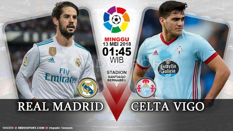 Prediksi Real Madrid vs Celta Vigo Copyright: © Grafis:Yanto/Indosport.com