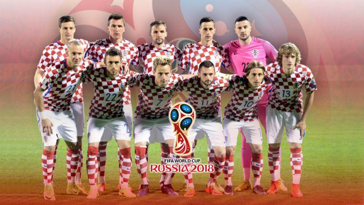 Timnas Football Kroasia PD 2018. Copyright: © Grafis:Yanto/Indosport.com