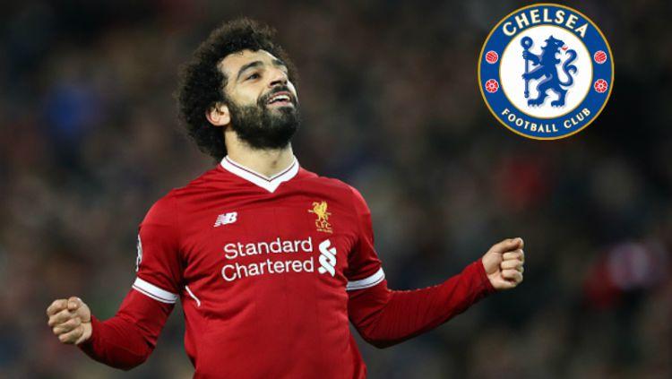 Mohamed Salah (Insert: Chelsea). Copyright: © INDOSPORT