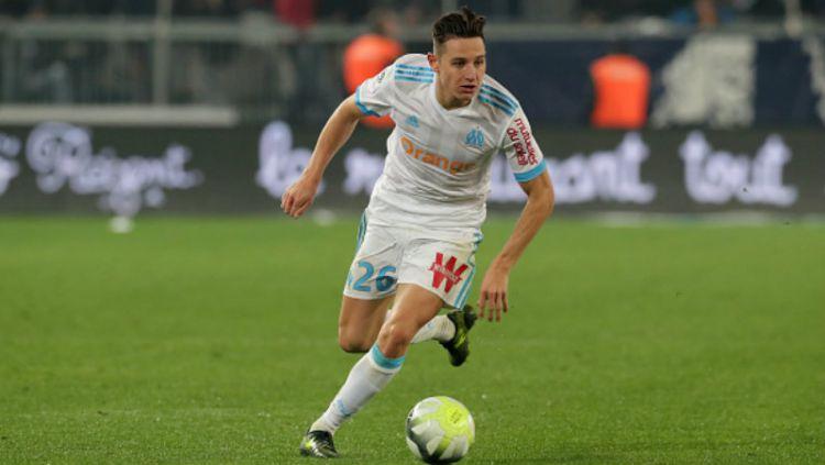 AC Milan percaya diri mampu menggaet bintang Marseille, Florian Thauvin di bursa transfer musim dingin mendatang. Copyright: © INDOSPORT