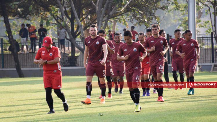 Latihan tertutup Persija Jakarta Jelang Lawan MU. Copyright: © Herry Ibrahim/INDOSPORT.COM
