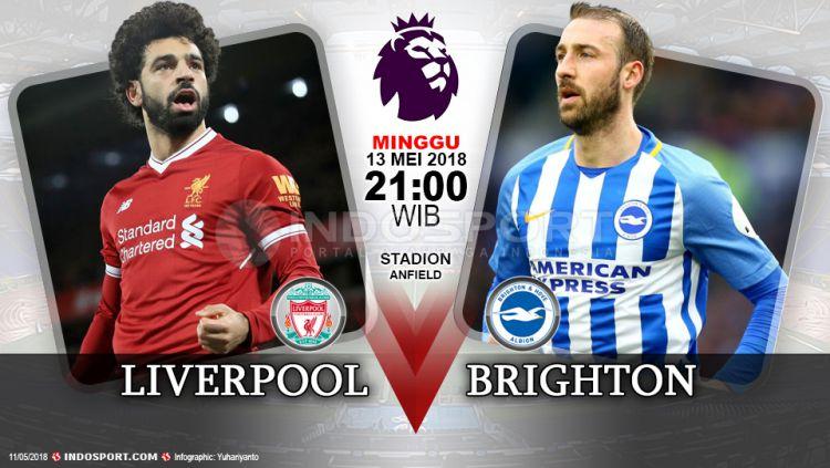 Link Live Streaming Liverpool Vs Brighton Indosport