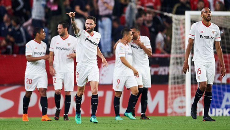 Para pemain Sevilla. Copyright: © INDOSPORT