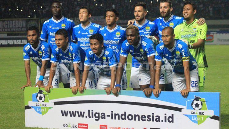 Starting XI Persib Bandung melawan Persipura. Copyright: © Arif Rahman/INDOSPORT