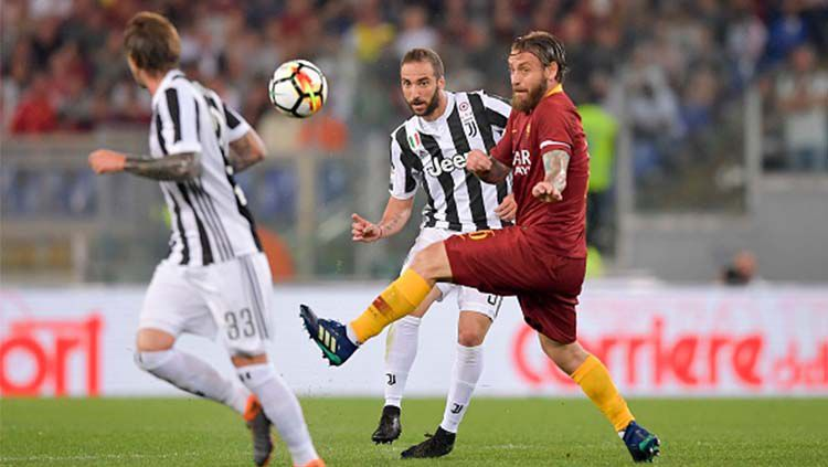 Pemain AS Roma vs Juventus. Copyright: © INDOSPORT