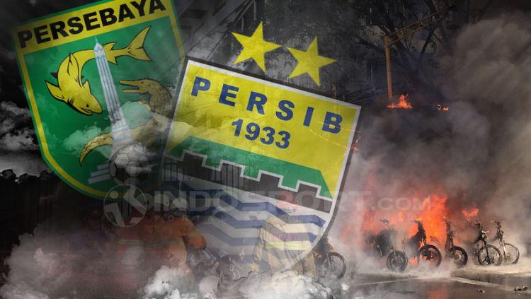 Persebaya vs Persib di Tunda Copyright: © Grafis:Yanto/Indosport.com