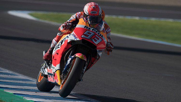 Marc Marquez saat berada di lintasan balap. Copyright: © INDOSPORT