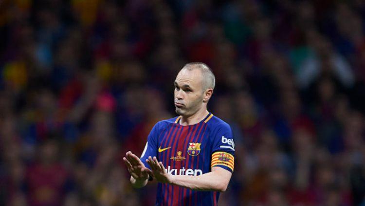 Mantan gelandang Barcelona, Andres Iniesta, sangsi Blaugrana bisa ulangi masa-masa keemasan seperti dahulu kala. Copyright: © INDOSPORT