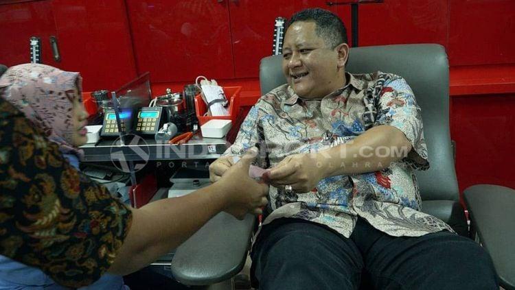 Fandri Imbiri dan Wisnu Sakti Buana. Copyright: © Fitra Herdian/Indosport.com