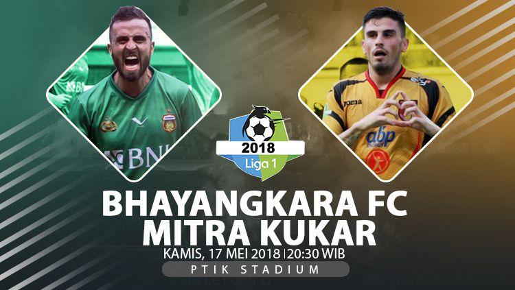 Bhayankara FC vs Mitra Kukar. Copyright: © INDOSPORT/Eli Suhaeli