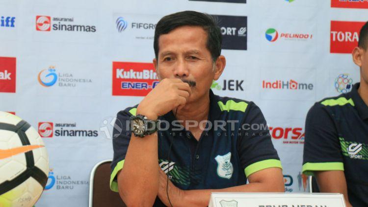 Pelatih PSMS Medan, Djajang Nurdjaman. Copyright: © Kesuma Ramadhan/Indosport.com