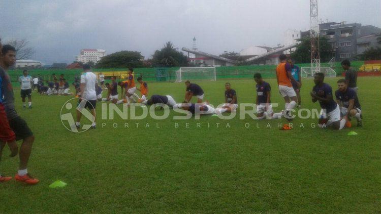 Latihan PSM Makassar. Copyright: © Wira Wahyu Utama/INDOSPORT