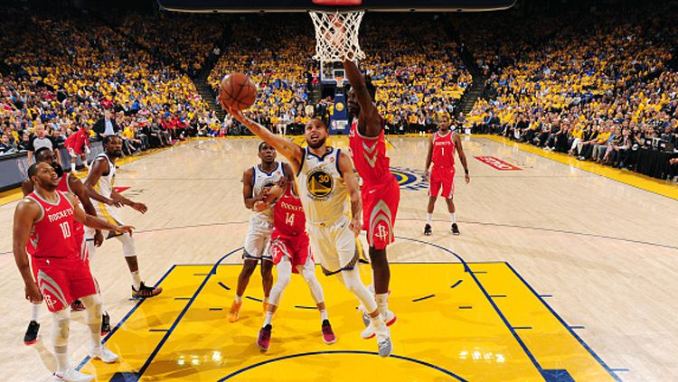 Golden State Warriors vs Houston Rockets. Copyright: © INDOSPORT