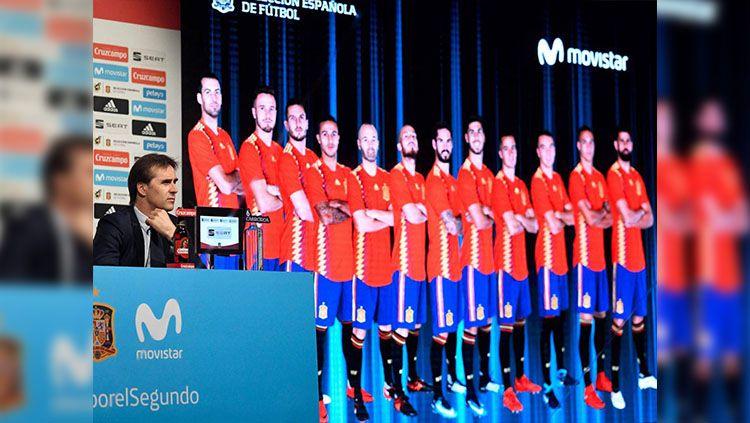 Julen Lopetegui mengumumkan skuat Spanyol. Copyright: © getty images