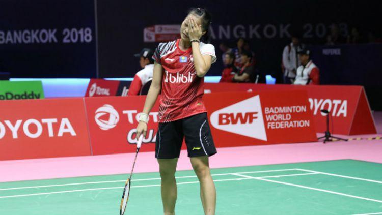 Fitriani, pebulutangkis tunggal putri Indonesia. Copyright: © PBSI
