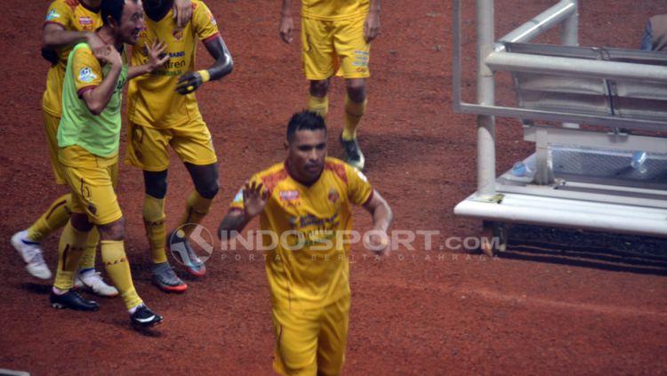 Pemain Sriwijaya FC, Alberto Gonçalves. Copyright: © Muhammad Effendi/Indosport.com