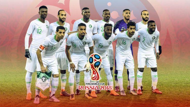 Pemain Arab Saudi untuk Piala Dunia 2018. Copyright: © Indosport.com