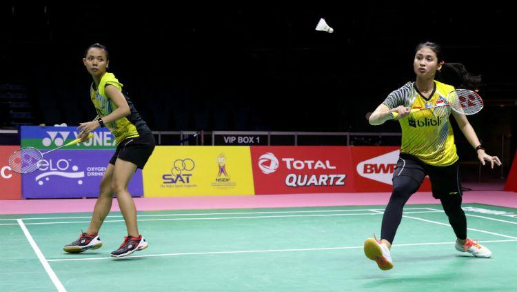 Pebulutangkis ganda putri Indonesia, Della Destiara Haris mencurahkan rasa bahagianya di media sosial usai Thailand Masters 2020. Copyright: © Humas PBSI