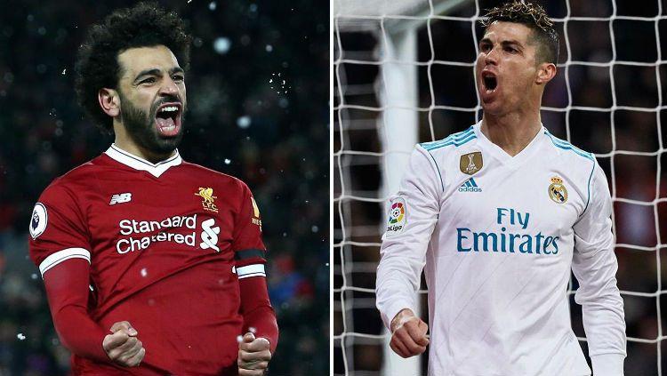 Cristiano Ronaldo vs Mohamed Salah Copyright: © standard.co.uk