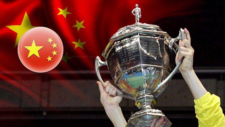 Piala Thomas dan Bendera China Copyright: © Indosport.com