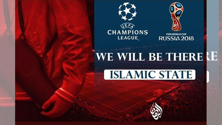 Poster ISIS ancam Liga Champions Copyright: © www.thesun.co.uk