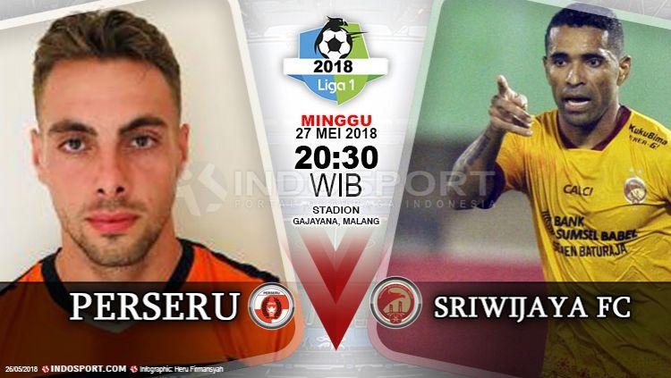 Perseru vs Sriwijaya FC Copyright: © Indosport.com