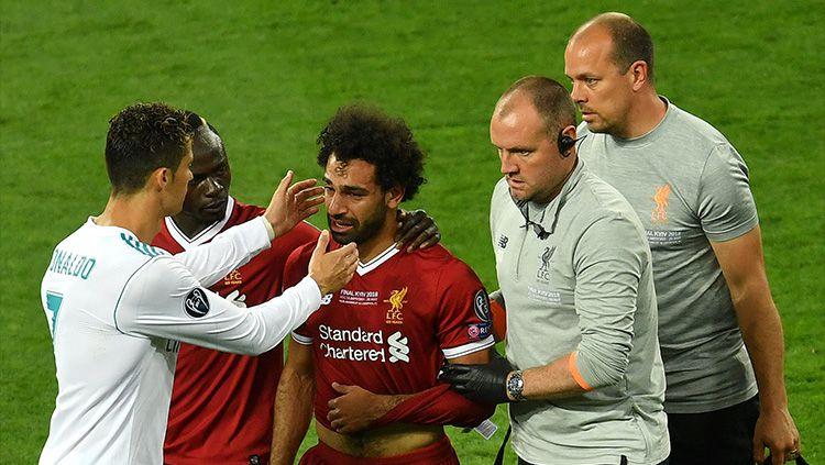 Ronaldo memberi dukungan ke Salah Copyright: © Getty Images