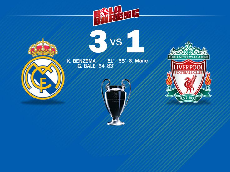 Real Madrid 3-1 Liverpool: Brace Bale Bawa Real Madrid Juara 3 Kali Beruntun