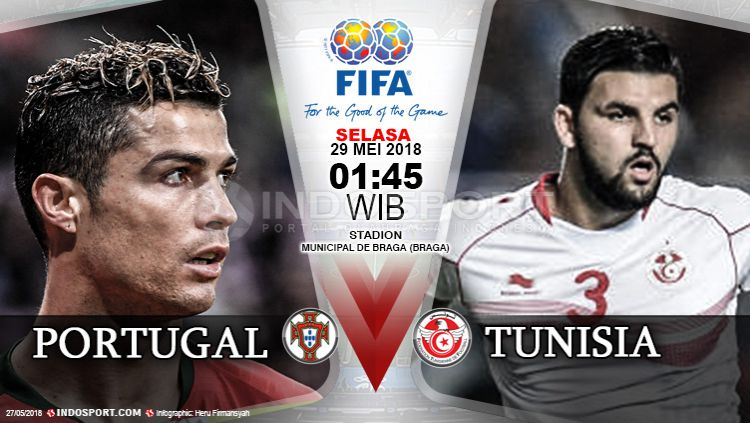 Portugal vs Tunisia Copyright: © Indosport.com
