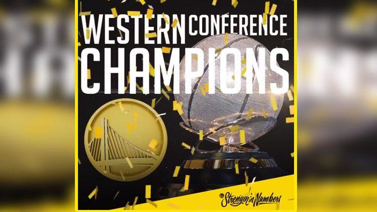 Golden State Warriors juara NBA Wilayah barat 2018. Copyright: © Instagram Warriors