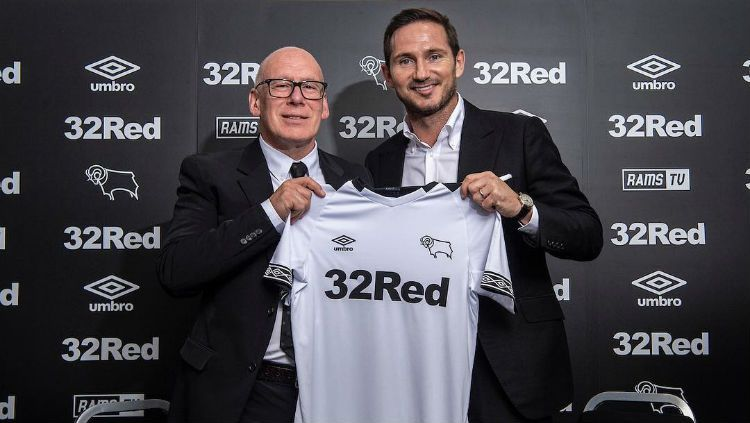Pelatih Derby County, Frank Lampard. Copyright: © Instagram/@dcfcofficial