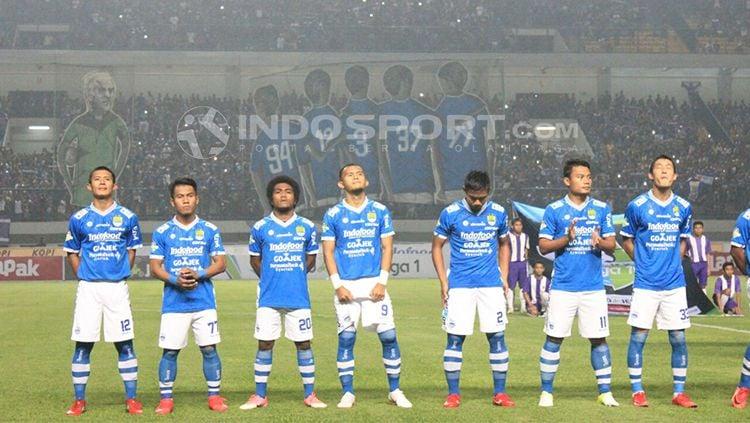Persib Bandung vs Bhayangkara FC. Copyright: © INDOSPORT/Arif Rahman