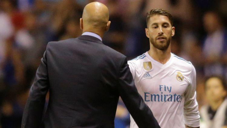 Sergio Ramos patut diusir oleh Zinedine Zidane dari raksasa LaLiga Spanyol, Real Madrid, gara-gara lakukan ini. Copyright: © Getty Images