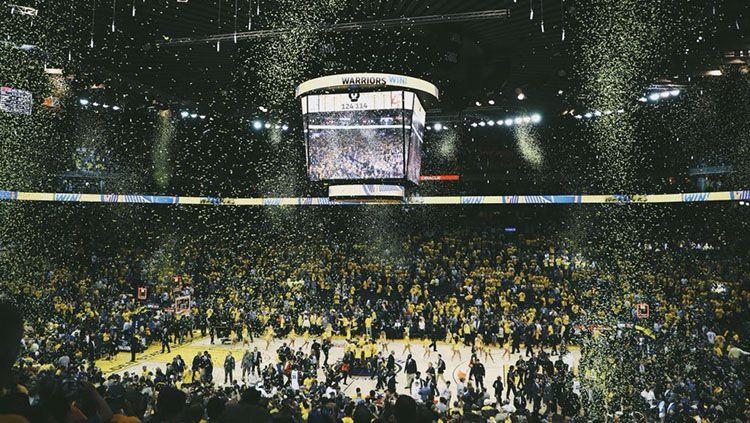 Golden State Warriors vs Cleveland Cavaliers. Copyright: © Twitter @warriors
