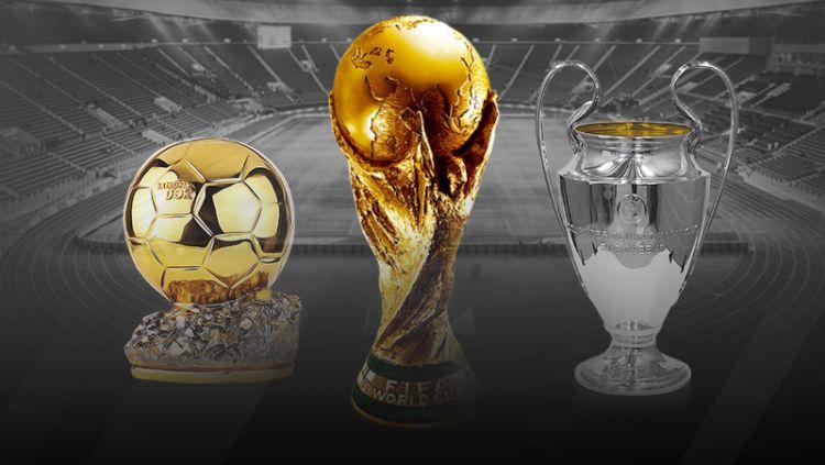Ballon D'or, Tropi Piala Dunia dan Tropi Liga Champions Copyright: © Indosport.com