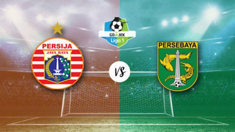 Ilustrasi Persija Jakarta vs Persebaya Surabaya. Copyright: © ngopibareng.id