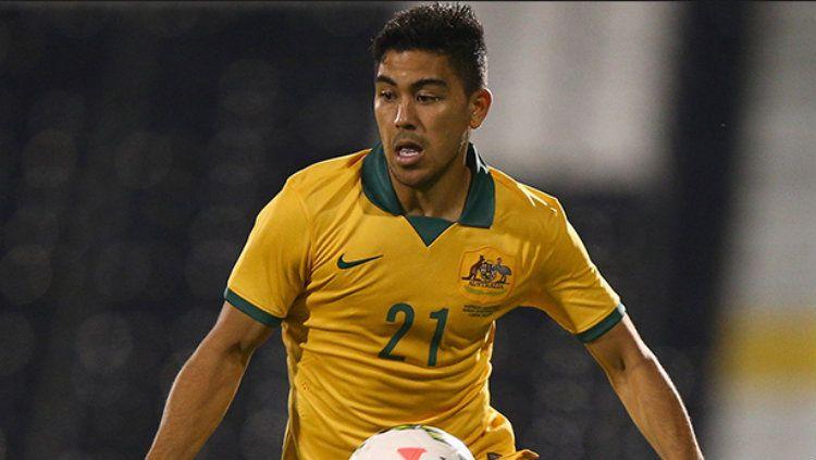 Pemain keturunan indonesia, Massimo Luongo resmi dibawa Timnas Australia ke Piala Dunia 2018. Copyright: © INDOSPORT